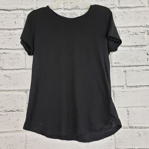 Caslon basic black tee size small oversized